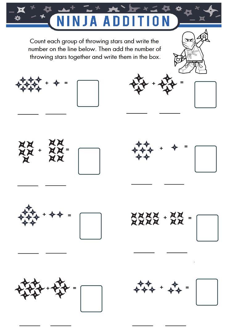 Math Ninja Worksheet : Ninja printable kindergarten number writing worksheets