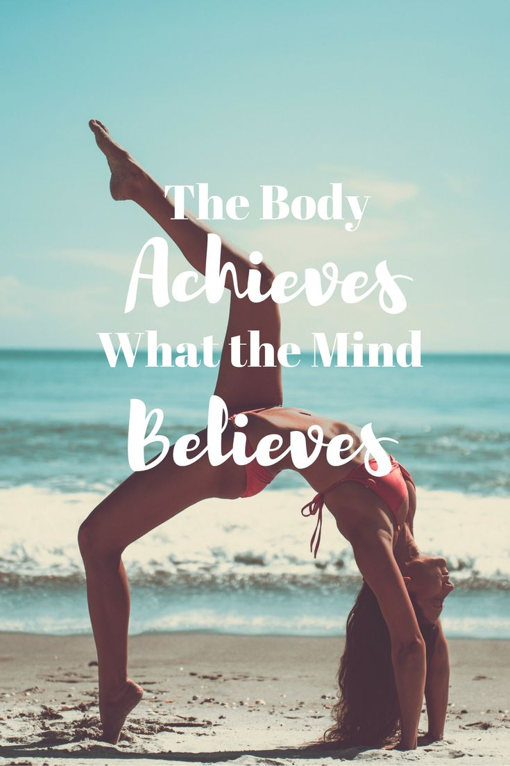 The body achieves what the mind believes. Great article on changing your mindset! Must read!