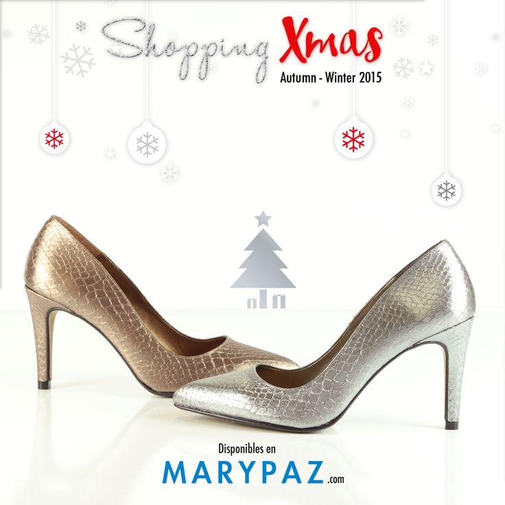 SHOPPING XMAS :¿ Preparada para lucir estas fiestas tus mejores zapatos ? Encuentra los salones más lady de MARYPAZ en sus versiones metalizadas: oro y plata ¡Ideales para estas fiestas navideñas que se aproximan!  SALÓN MATALIZADO ORO ► http://www.marypaz.com/tienda-online/salon-de-punta-fina-48585.html?sku=72541-35  SALÓN MATALIZADO PLATA ► http://www.marypaz.com/tienda-online/salon-de-punta-fina-48585.html?sku=72540-35