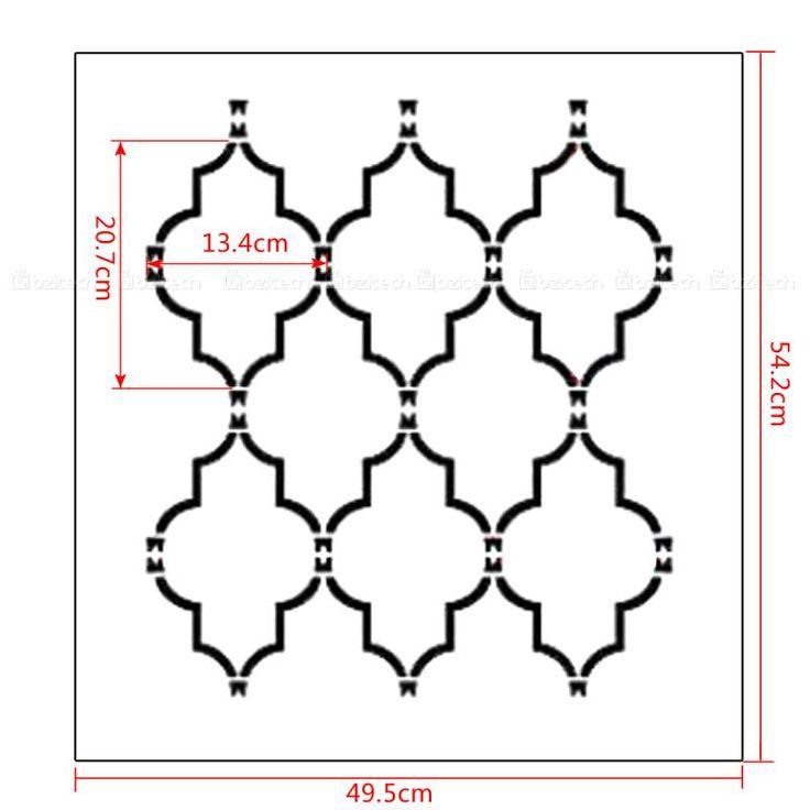 M s de 1000 ideas sobre patrones de plantilla de la pared for Plantillas para pintar paredes