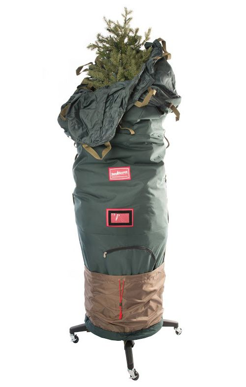 6 to ft upright rolling christmas tree storage bag deluxe - Christmas Tree Bags
