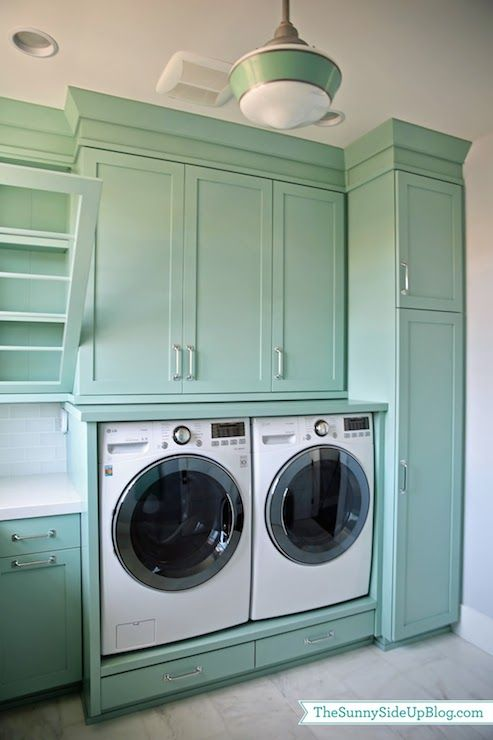 Teal Laundry Rooms Transitional Room Benjamin Moore Wythe Blue Sunny Side Up