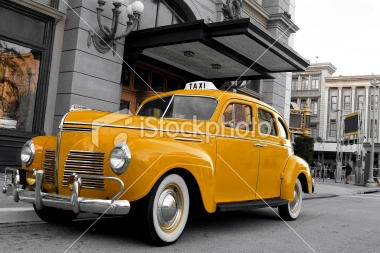 Vintage New York Cab Royalty Free Stock Photo