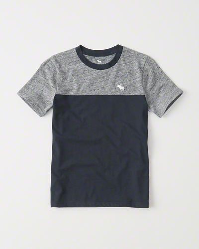 niños - camiseta de tela rizada con bolsillo y mangas raglán | tops para niños | Abercrombie.com