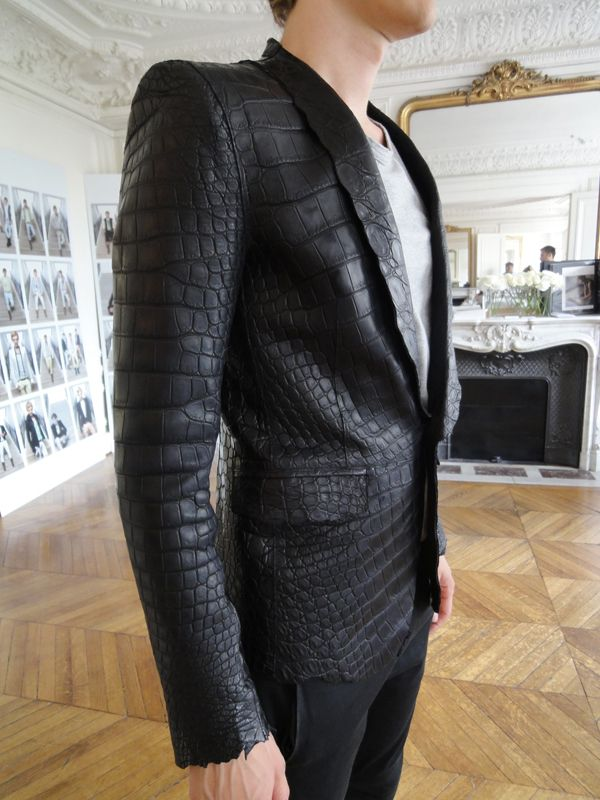 ~ Living a Beautiful Life ~ Balmain Homme S/S 2012 – Croco Blazer