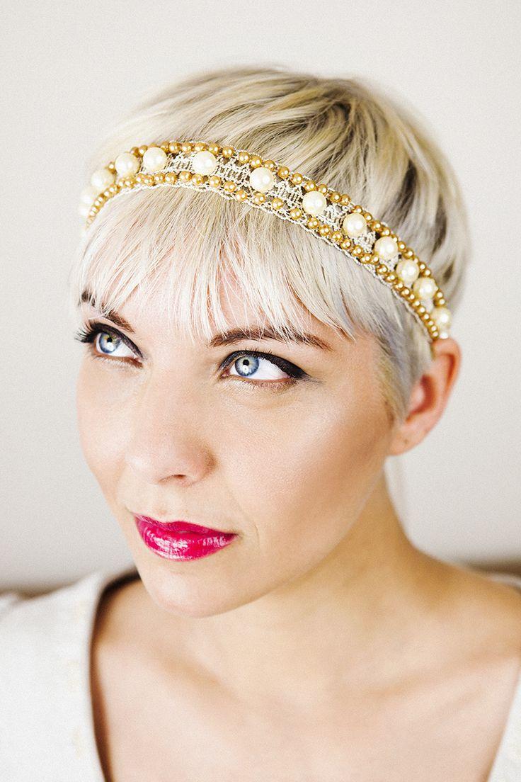 Delicate romantic bridal headband.