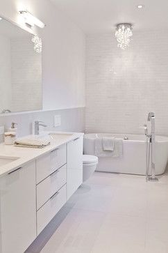 Create Photo Gallery For Website All white bathroom