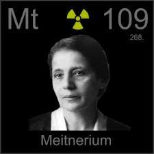 Meitnerium is a chemical element with symbol Mt and atomic number 109. It is an extremely radioactive synthetic element (an element not found in nature that can be created in a laboratory). The most stable known isotope, meitnerium-278, has a half-life of 7.6 seconds. The GSI Helmholtz Centre for Heavy Ion Research near Darmstadt, Germany, first created this element in 1982.