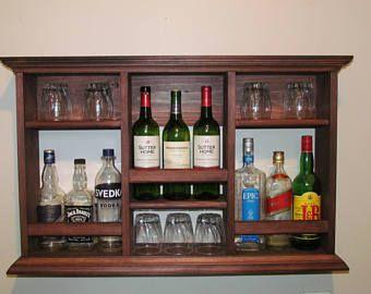 Mini-Bar, sin estante de vidrio de vino, licor gabinete estilo minimalista
