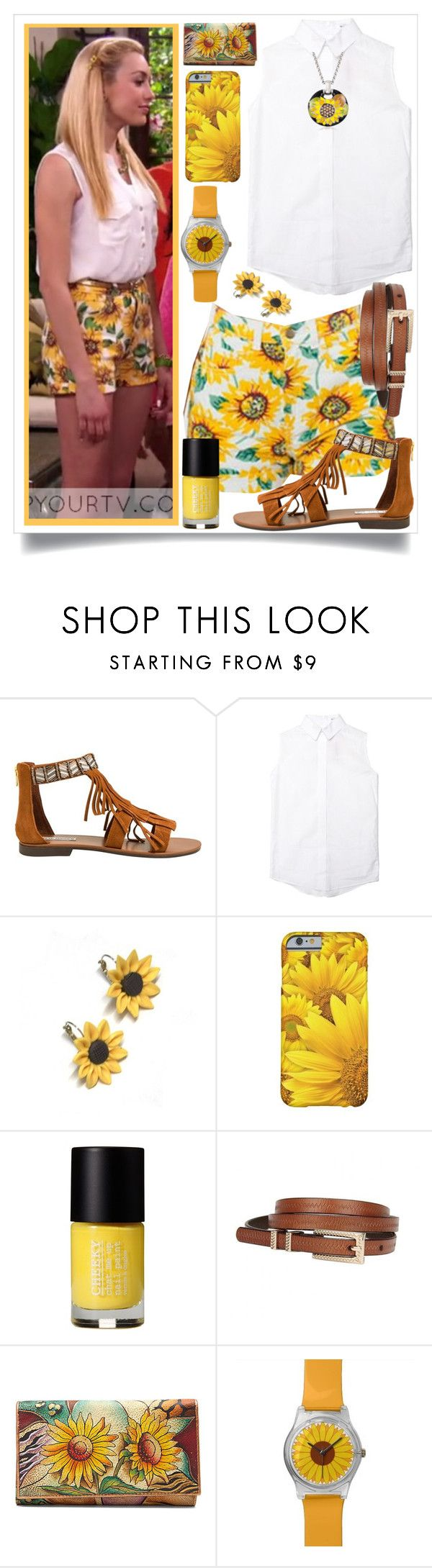 """jessie - Emma Ross 1"" by unwrittenlove ❤ liked on Polyvore featuring Steve Madden, Hannah Makes Things, Cheeky, Anuschka and Belle Etoile"