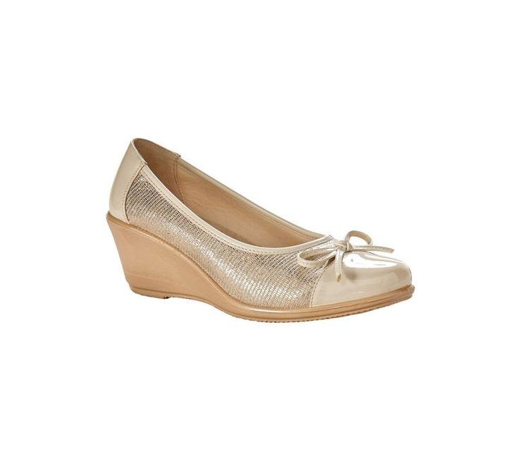 Baleríny na klínovém podpatku | blancheporte.cz #blancheporte #blancheporteCZ #blancheporte_cz #shoes #boty #sandals
