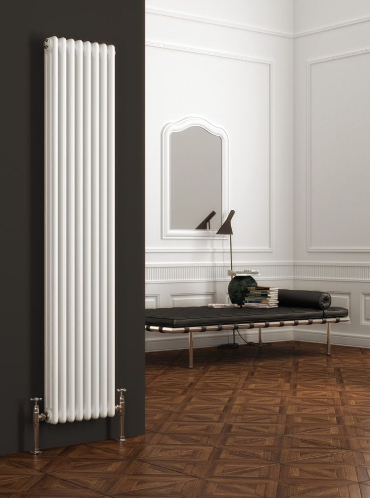 Reina Colona Vertical 2 Column Radiator 1800mm High x 200mm Wide - White