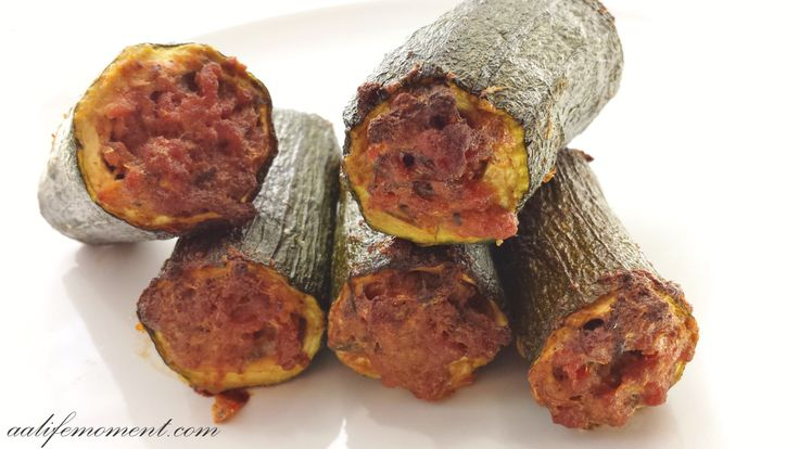 Stuffed Zucchini-Baked Version