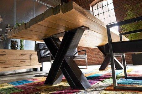 154no giant x stahl tischgestell nach ma tisch. Black Bedroom Furniture Sets. Home Design Ideas