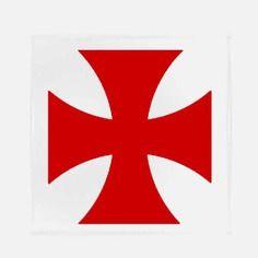 Croix templier chevalier applique thermocollant