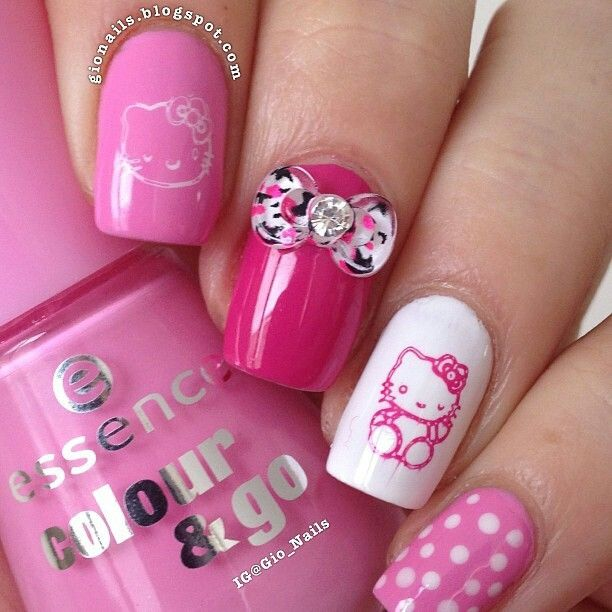 38 best Hello Kitty Nail Art images on Pinterest | Hello kitty nails ...