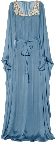 Embellished Silk Kaftan Gown - Lyst. I NEED this dress!
