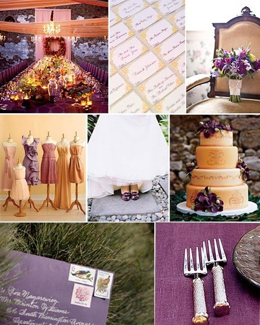 Bridal Bubbly A Plum Of A Wedding Plum Ivory And Gold Inspiration Board