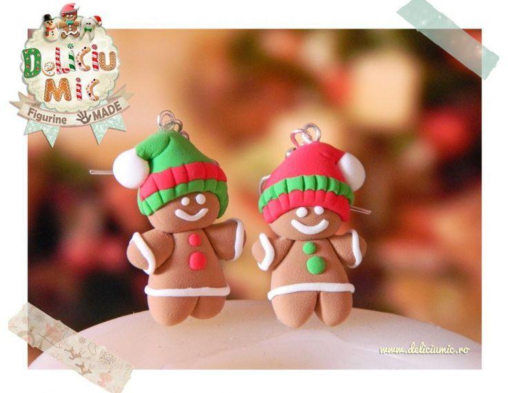 Cercei handmade: Omuleți din turtă dulce