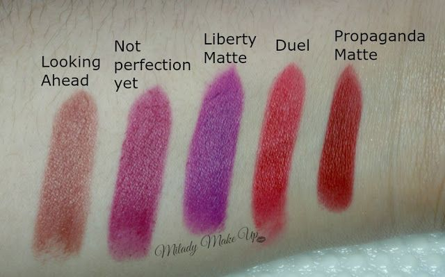 labiales Makeup Revolution swatches