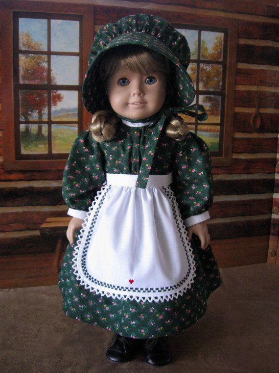 1850s  3 piece pioneer school dress set  for Kirsten, by NeedleinaHaystack, $42.95