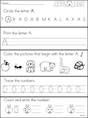 A Teeny Tiny Teacher has three free printables from her Kindergarten Morning Work. These are great!