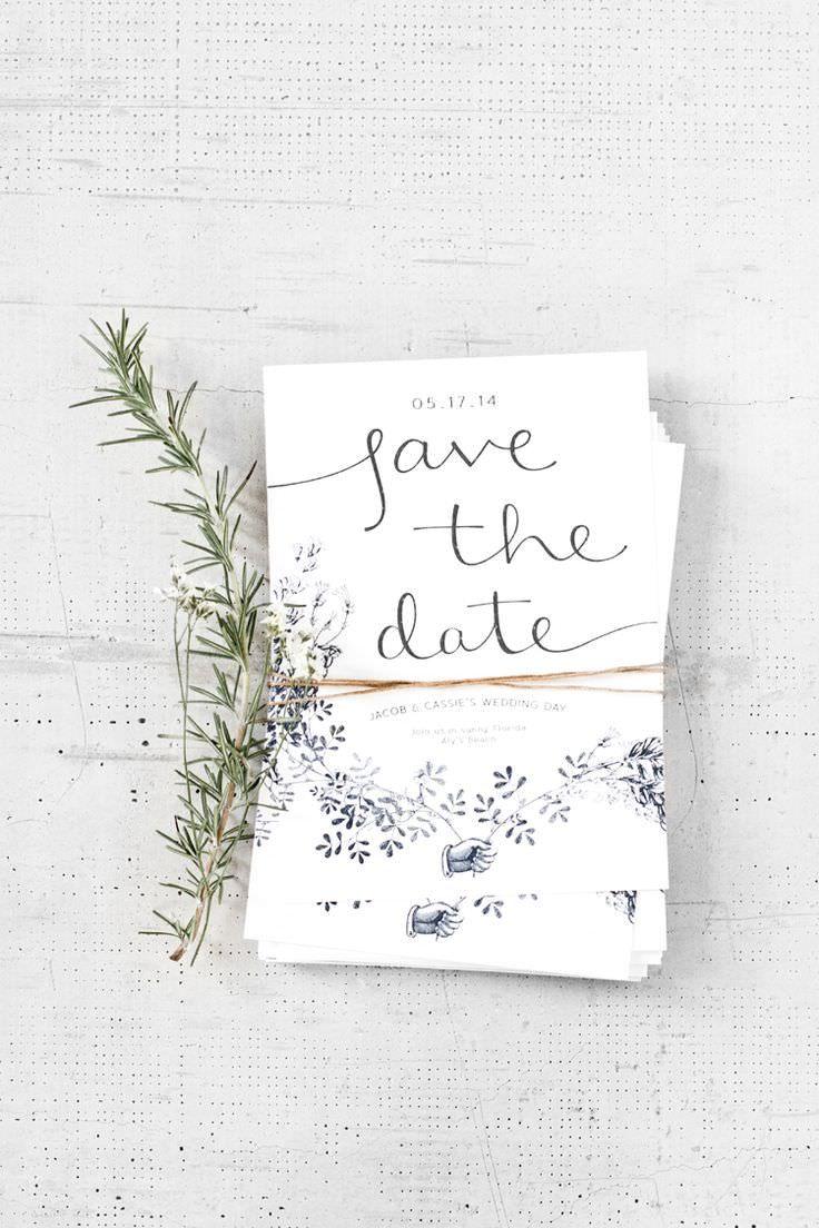 herb motif invitations #savethedate #weddingstationery #countrywedding #styleyourwedding
