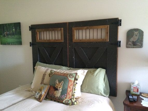 Queen size Barn Door Headboard by WhiskeyRiverAccents on Etsy