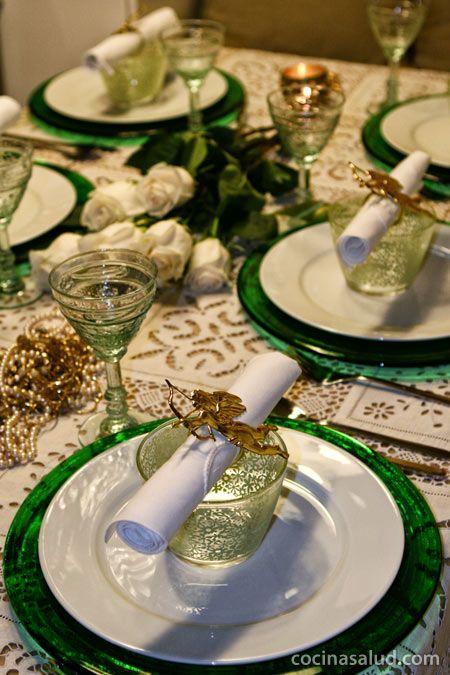 Ideas para decorar la mesa en Navidad.   cocinasalud.com