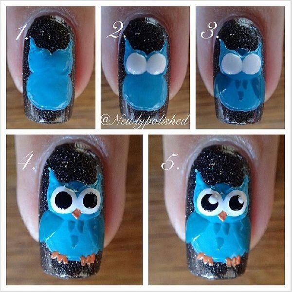 Owl Nail Art