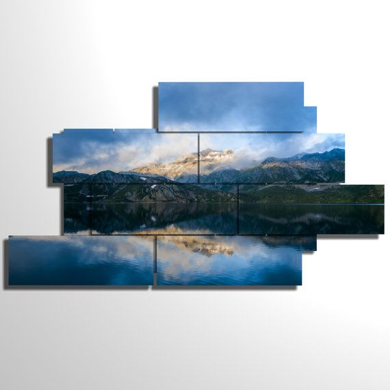 Multilevel and multipanel picture - 220x119 cm - Mountain
