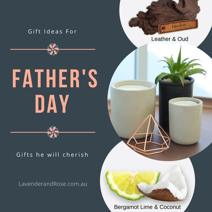 Scented Candles for Men? Why not - pair it with a high quality Vessel in Concrete, Marble or Wood, and he will display it proudly for years to come! Check our blog post for more gift ideas for Fathers Day 2017 in Australia!