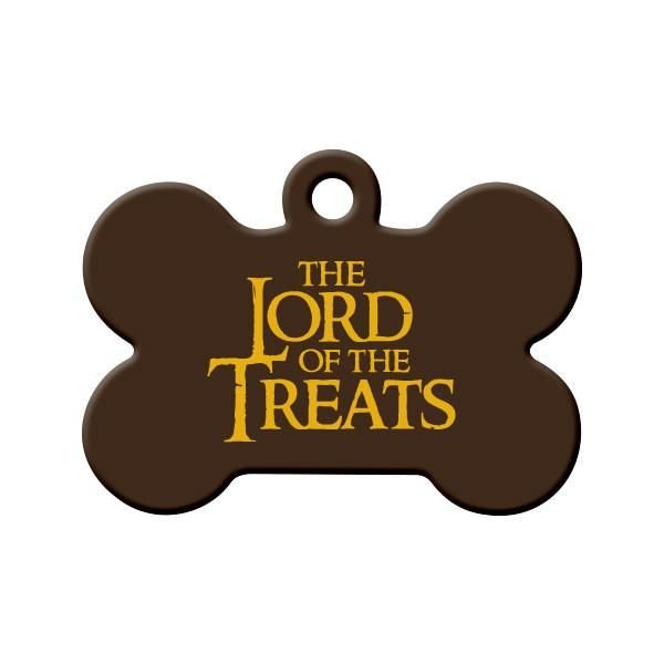 The Lord of the Treats Dog Tag - Are you a Lord of the Rings Fan? Then your pet is probably a fan of the parody movie called The Lord of the Treats!