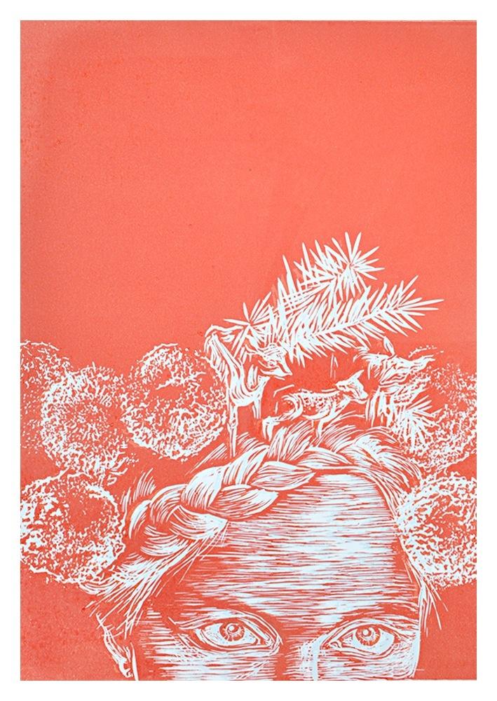 Weronika Rafa, linocut print