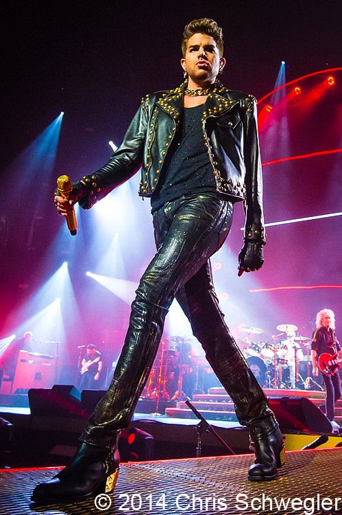 Photos of Queen with Adam Lambert from July 12th 2014 at the Palace Of Auburn Hills in Auburn Hills, Michigan
