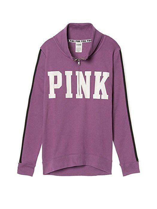 be387343cfd2d Victoria's Secret PINK Logo High /Low Half - Zip Jacket, Begonia ...