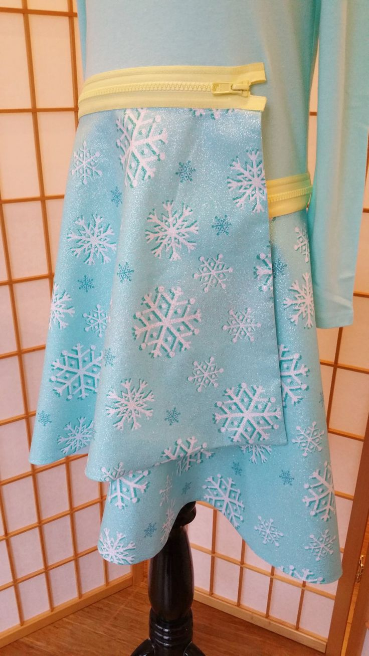Girls Skirt, Christmas Skirt, Holiday Dress, Snowflake skirt, Girls Mix and Match Clothing, Elsa Dress by MikAriFashion on Etsy
