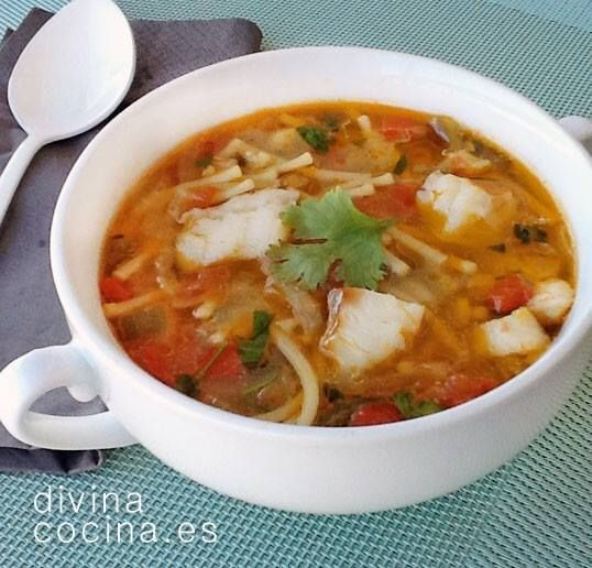Sopa de pescado < Divina Cocina