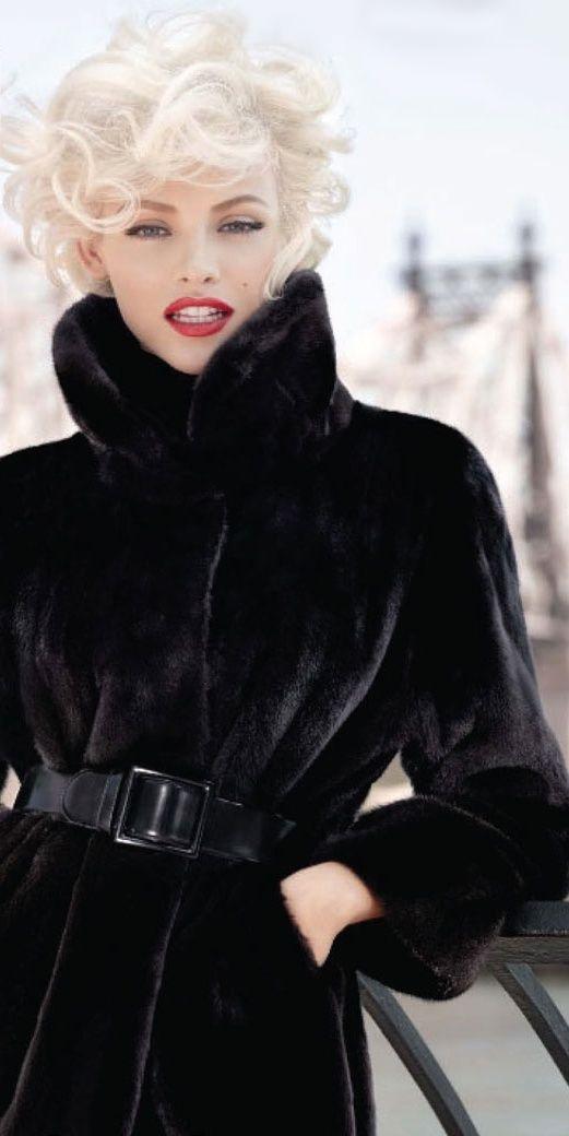 Blackglama on Women's Wear Daily - She's beautiful..