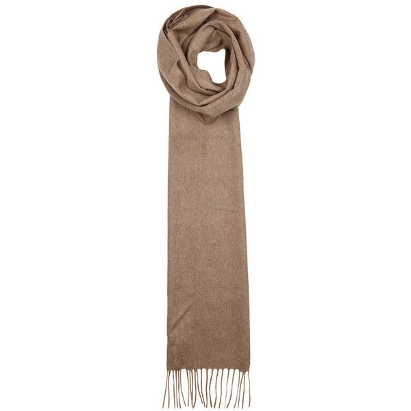 Johnstons Of Elgin Camel Cashmere Scarf (430 BRL) ❤ liked on Polyvore featuring men's fashion, men's accessories, men's scarves and mens cashmere scarves