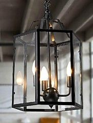 MAX+40W+Pendant+Light+,++Traditional/Classic+Country+Vintage+Retro+Lantern+Painting+Feature+for+Mini+Style+MetalLiving+Room+Bedroom+–+AUD+$+514.77