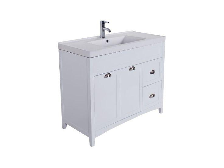STRÖMSUND Tvättställ med underskåp 101 Vit - Badrumsmöbler - Ba