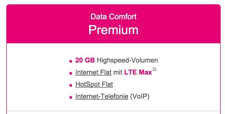 """Telekom Data Comfort Premium: 20 GB LTE Datentarif und """"Jedes Jahr ein neues iPad"""" - https://apfeleimer.de/2015/10/telekom-data-comfort-premium-20-gb-lte-datentarif-jedes-jahr-neues-ipad - NEU: Telekom Data Comfort Premium mit 20 GB Telekom LTE-Flat mit LTE Max (bis 300 Mbit/s) sowie jedes Jahr ein neues Apple iPad bzw. Tablet? Die Features dieses neuen Telekom Premium LTE Datentarifs sind unglaublich: 20 GB LTE im besten Telekom LTE Netz mit maximalem mobilen Download-Speed"""