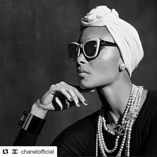 #Repost @chanelofficial (@get_repost)  The Spring-Summer 2018 #CHANELEyewear campaign featuring Adwoa Aboah photographed by Karl Lagerfeld. @adwoaaboah #CHANELSunglasses