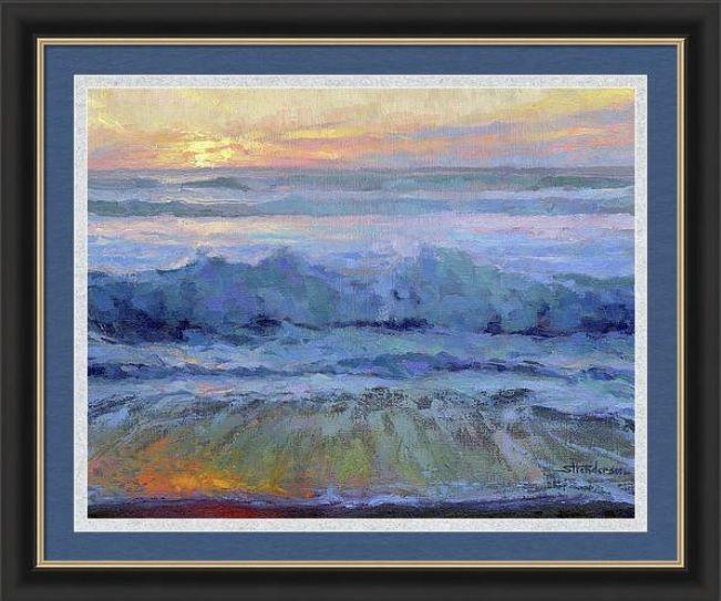 Twilight Surf Framed Print By Steve Henderson In 2020 Framed Art Prints Framed Art Digital Painting