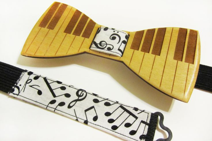 PIANO KEYS Wooden Bow Tie - Light Stain – Bow Tied Wood
