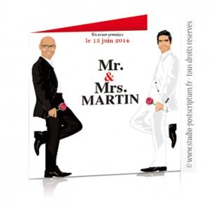faire part de mariage original gay et lesbien mr mr gay wedding - Idee Mariage Gay