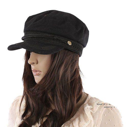 ECOSCO Women Girl Army Military Navy Marine Yacht Sailor Captain Skipper Cadet Costume Brim Hat Cap Black Ecosco hat http://www.amazon.com/dp/B00C72SPQK/ref=cm_sw_r_pi_dp_46JLtb17E9PN1DBP