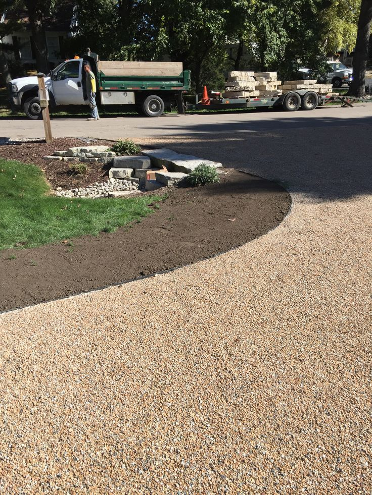 This is the new edge by the existing culvert for the main driveway...