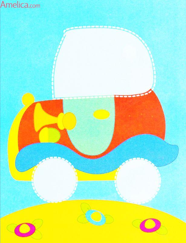 Открытка для малышей 1.5 года из бумаги, ласка любви юбилеем